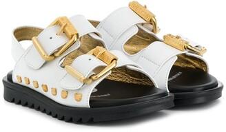 MOSCHINO BAMBINO Buckled Sandals