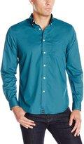 Dockers Long Sleeve Solid Cvc Woven Shirt