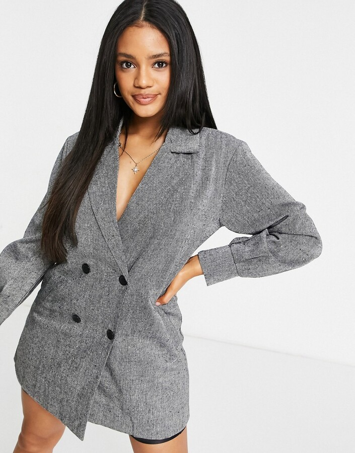 Thumbnail for your product : Parisian double breasted blazer dress in gray