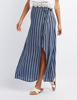 Charlotte Russe Striped Wrap-Tie Maxi Skirt