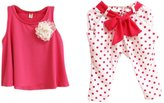Malltop Palarn Baby Girl Dot Flower Set Toddler Vest Clothing