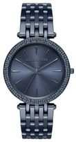 Michael Kors Darci Pave Blue IP Stainless Steel Bracelet Watch