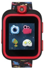 iTouch Boys Girls PlayZoom Black Smartwatch for Kids with Dinosaur Print 42mm