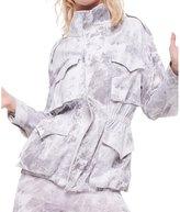 Norma Kamali Women's Cargo Turtle Jacket - White Marble