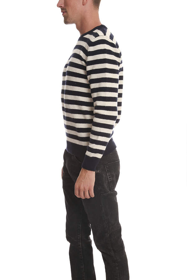 A.P.C. Lambswool Sailor Stripe Pullover