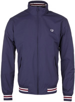 Fred Perry Carbon Blue Funnel Neck Tipped Bomber Jacket