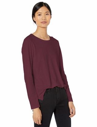 Goodthreads Washed Jersey Cotton Long-sleeve Crewneck T-shirt Bordeaux US S (EU S - M)