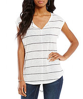 Vince Camuto Two By Striped Chevron-Back Top