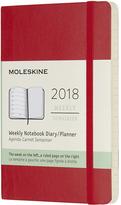 Moleskine Scarlet 2018 Twelve-Month Weekly Planner