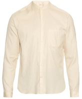 Oliver Spencer Grandad Cotton And Linen-blend Shirt