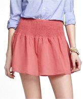 Express Cotton Smocked Waist Mini Skirt