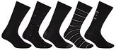 John Lewis City Socks, Pack Of 5, Black