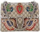 Gucci Dionysus embroidered shoulder bag - women - Leather/Acrylic/Polyester/glass - One Size