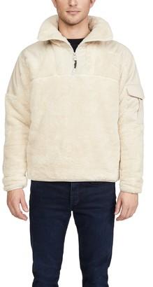 Rag & Bone Logan Sherpa Quarter Zip Pullover