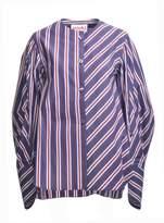 MINKI LONDON Navy Blue and Burgundy Striped Shirt - last one