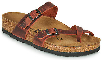 Birkenstock MAYARI LEATHER women's Mules / Casual Shoes in Red