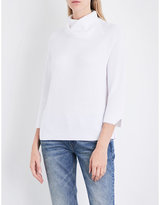The White Company Split turtleneck cotton-blend jumper
