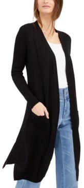 INC International Concepts Inc Ribbed Duster Cardigan, Created for Macy's