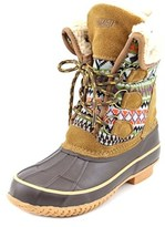 Khombu Maya Women Round Toe Canvas Brown Snow Boot.