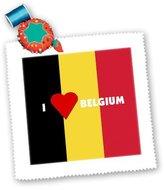 3dRose LLC qs_55207_2 Florene Décor II - I Love Belgium - Quilt Squares