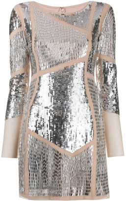 Patrizia Pepe Sequin Embellished Mini Dress