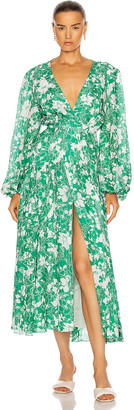 Alexis Kazmera Dress in Emerald Floral | FWRD