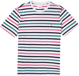 Farah Short Sleeve Crew Neck T-Shirt with Stripes