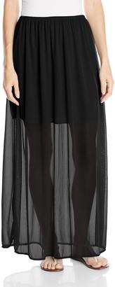 Star Vixen Women's Chiffon Skirt with 17 Inch Lining