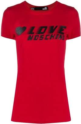 Love Moschino logo-print crew neck T-shirt