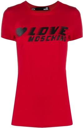 Love Moschino logo-print crew neck T-shirt