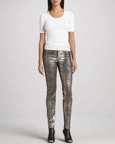 CJ by Cookie Johnson Python Skinny Jeans, Pewter