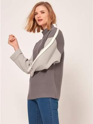 M&Co Ribbed colourblock jumper