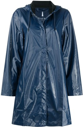 Rains A-line mid-length raincoat