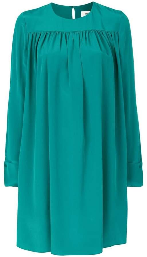 Diane von Furstenberg oversized plated dress