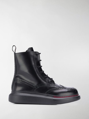 Alexander McQueen Lace-Up Ankle Boots