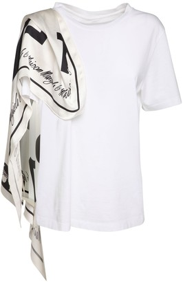 MM6 MAISON MARGIELA Cotton Jersey T-Shirt W/ Printed Scarf