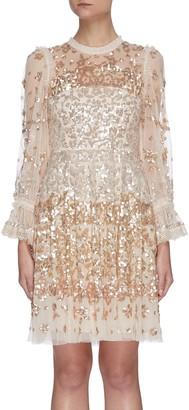 Needle & Thread Sequin embellished tulle mini dress