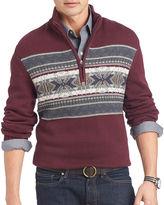 Izod Fair Isle Quarter-Zip Sweater