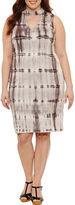 BELLE + SKY Sleeveless Tie Dye Bodycon Dress-Plus