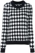 Balmain checkered jumper - women - Polyamide/Angora/Wool - 36