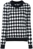 Balmain checkered jumper - women - Polyamide/Angora/Wool - 38