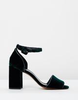 Whistles Hedda Velvet Block Heel Sandals