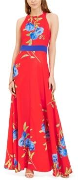 Foxiedox Polly Bow-Back Floral-Print Maxi Dress