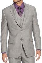 Alfani Mens Wool Slim Fit Two-Button Suit Jacket B/W 40S