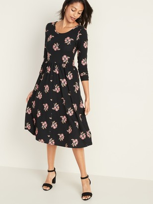 Old Navy Fit & Flare Scoop-Neck Midi Dress for Women