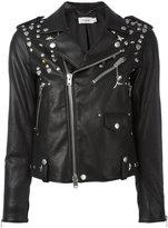 Coach multi-studded biker jacket - women - Lamb Skin/Polyester/Viscose - 0