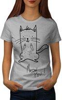 Meow You Cat Funny Cute Kitten Women NEW XXL T-shirt | Wellcoda