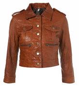 Leather Boxy Jacket