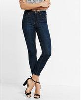 Express petite high waisted raw hem stretch cropped jean leggings