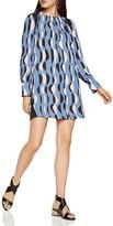 BCBGMAXAZRIA Karla Deco Graphic Print Shift Dress
